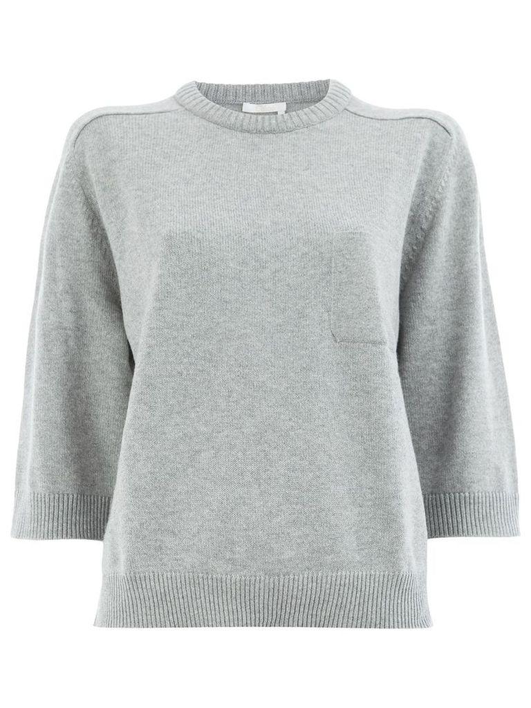 Chloé short-sleeve shift sweater - Grey