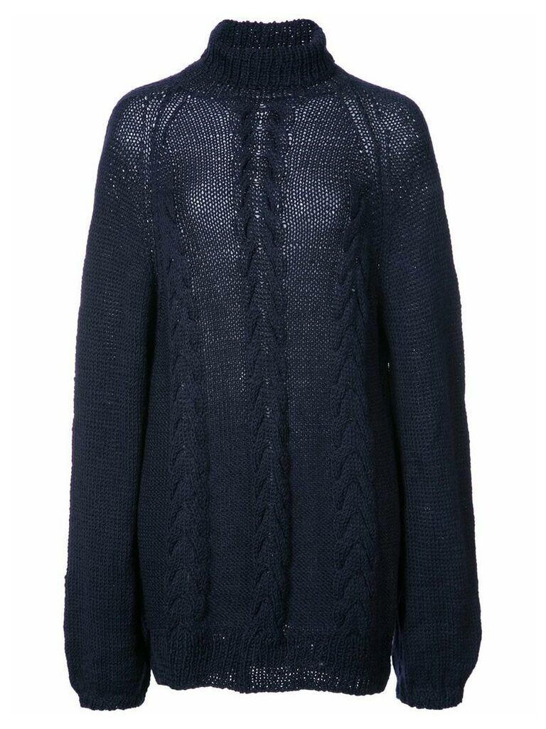 Voz turtleneck knitted top - Blue