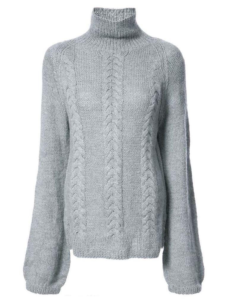 Voz turtleneck knitted top - Grey