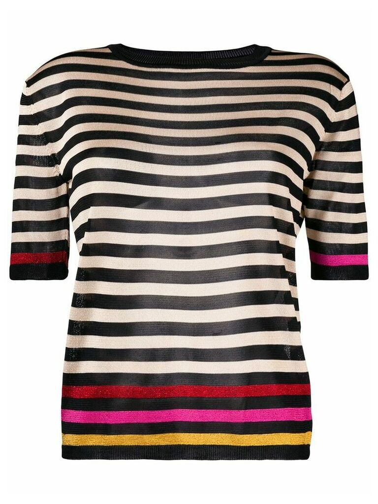 Marco De Vincenzo striped knitted top - Neutrals