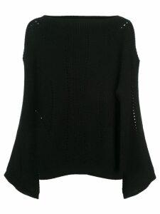 Nili Lotan cut-detail draped sweater - Black