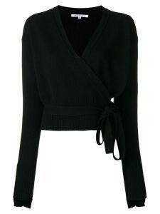 Helmut Lang cashmere wrapped blouse - Black