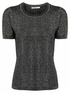 T By Alexander Wang short sleeve knit top - Black