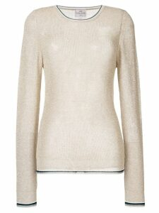 Forte Forte glitter effect knitted top - Brown