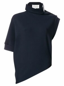 Maison Margiela asymmetric funnel-neck top - Blue