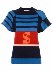 Stella McCartney short sleeved striped jumper - Multicolour