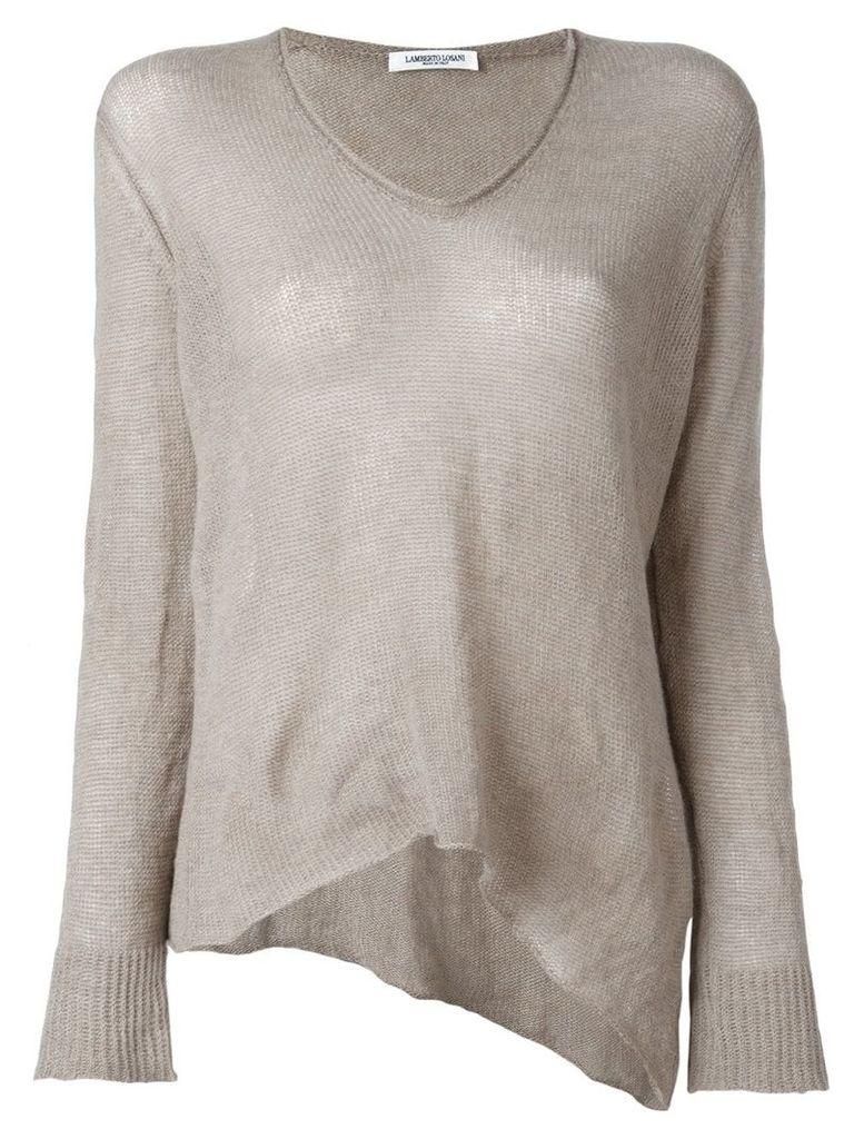 Lamberto Losani V-neck knitted blouse - Neutrals