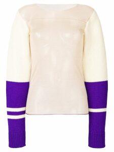 Calvin Klein 205W39nyc sheer colourblock pullover - Multicolour
