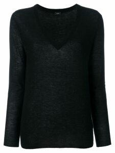 Joseph cashmere V-neck fitted jumper - Black