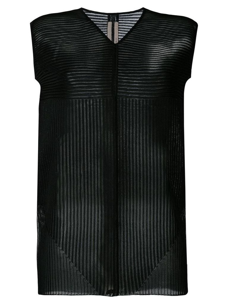 Rick Owens knitted striped panel top - Black
