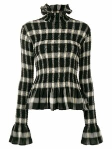 Mm6 Maison Margiela high-neck check top - Black