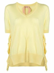 Nº21 short-sleeve knitted top - Yellow