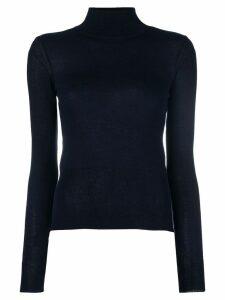 Jacquemus cut detail turtle-neck sweater - Blue