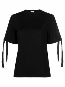 P.A.R.O.S.H. tie sleeve knitted top - Black