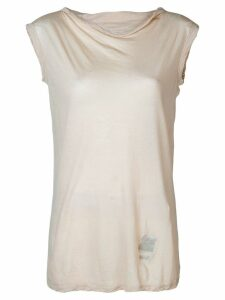 Rick Owens DRKSHDW sleeveless fitted sweater - Neutrals