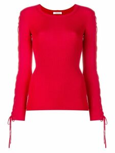 P.A.R.O.S.H. laced sleeves knitted top - Red
