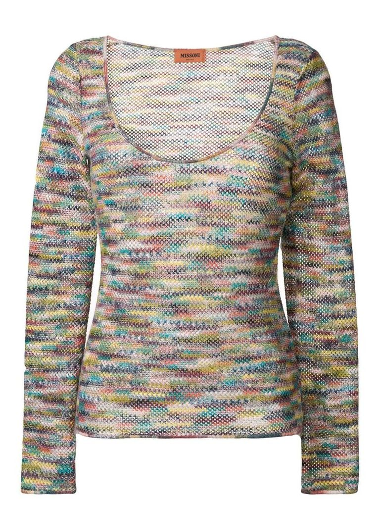Missoni long-sleeve embroidered sweater - Pink