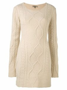 Yeezy long-sleeved knitted dress - Neutrals