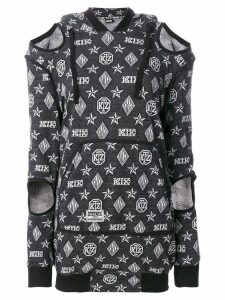 KTZ logo embroidered sweater dress - Black