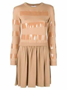Moschino tape detail jumper dress - Brown