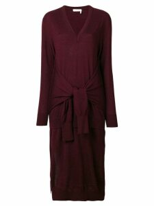Chloé waist-tied sweater dress - Red