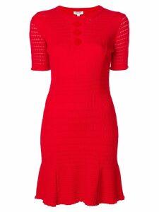 Kenzo cut-detail shift dress - Red