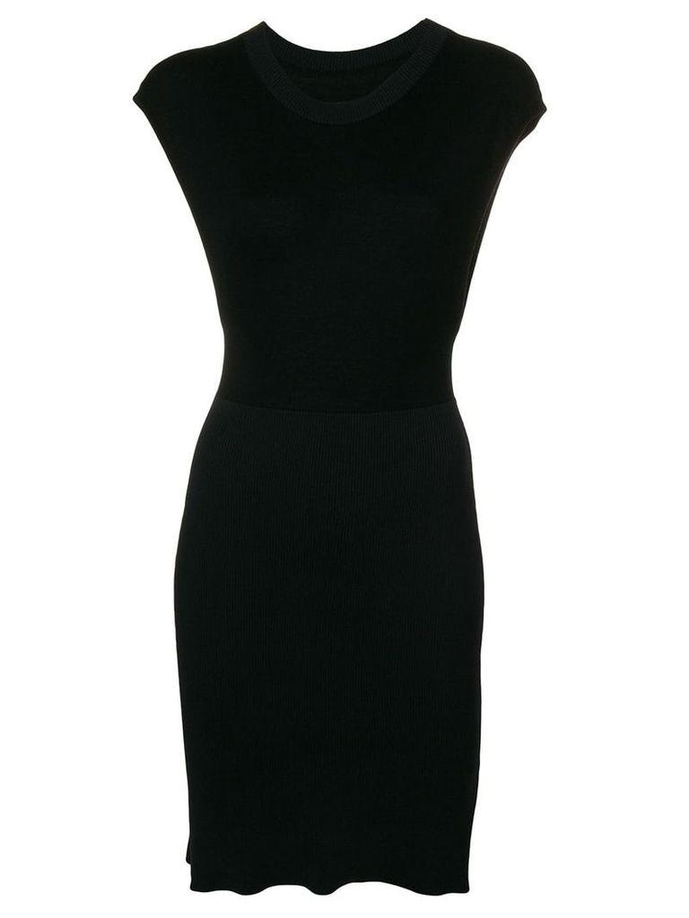 Mm6 Maison Margiela sleeveless fitted sweater dress - Black