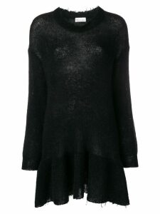 Red Valentino sheer knit sweater dress - Black
