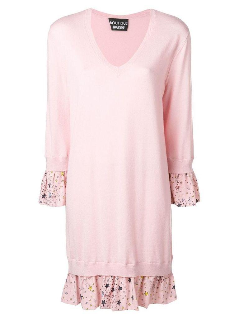 Boutique Moschino ruffle knit dress - Pink
