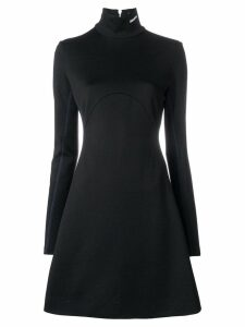 Calvin Klein 205W39nyc turtle-neck flared sweater dress - Black