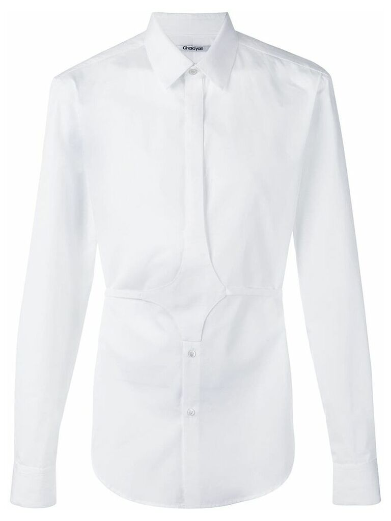 Chalayan button belt shirt - White