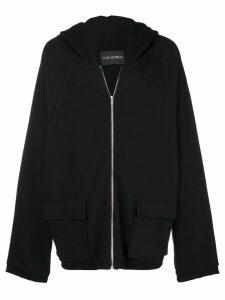Yuiki Shimoji graphic print oversized hoodie - Black