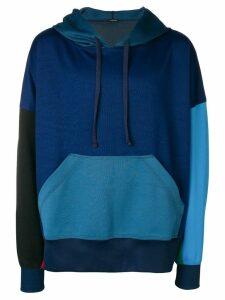 À La Garçonne color-blocked hoodie - Blue