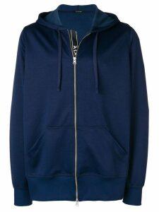À La Garçonne side stripe zipped hoodie - Blue