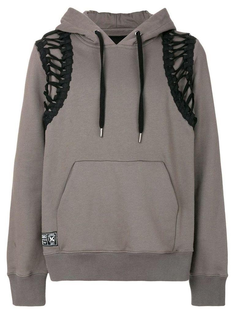 KTZ lace-up hoodie - Grey