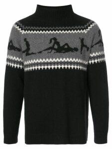 The Elder Statesman The Fairest Isle sweater - Black