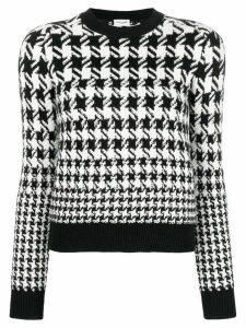 Saint Laurent houndstooth sweater - Black