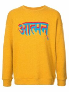 The Elder Statesman Sanskrit-Self Intarsia Heavy jumper - Orange