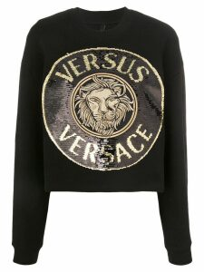 Versus sequin-embellished medallion sweatshirt - Black