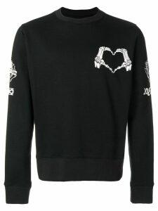 KTZ skeleton heart print sweatshirt - Black
