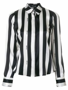 Styland striped print blouse - Black