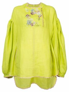 Natasha Zinko embroidered tunic top - Yellow