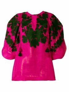 Vita Kin embroidered puff sleeve top - Pink