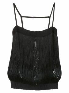 À La Garçonne fringed top - Black