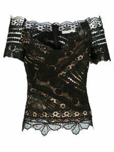 Martha Medeiros Angela short sleeves blouse - Black