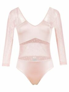 Brigitte long sleeved tulle bodysuit - Pink