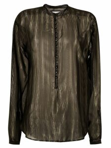 Saint Laurent sheer striped blouse - Black
