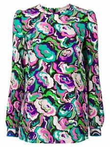 Emilio Pucci abstract floral longsleeved blouse - Multicolour