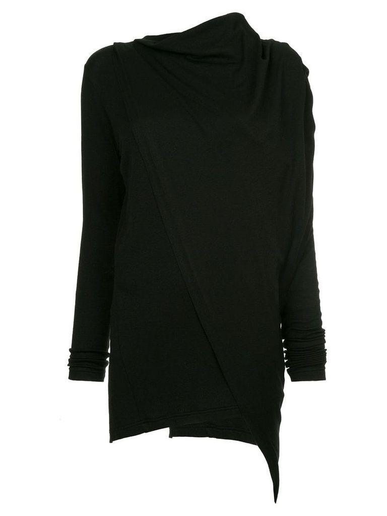 Y's draped neck blouse - Black