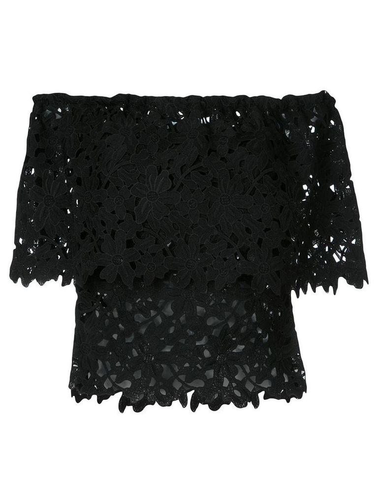 Bambah lace off shoulder top - Black